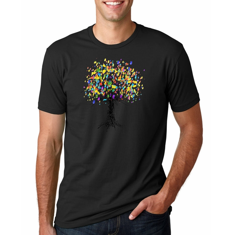 T Shirt Male Tree of Life Colorful Design