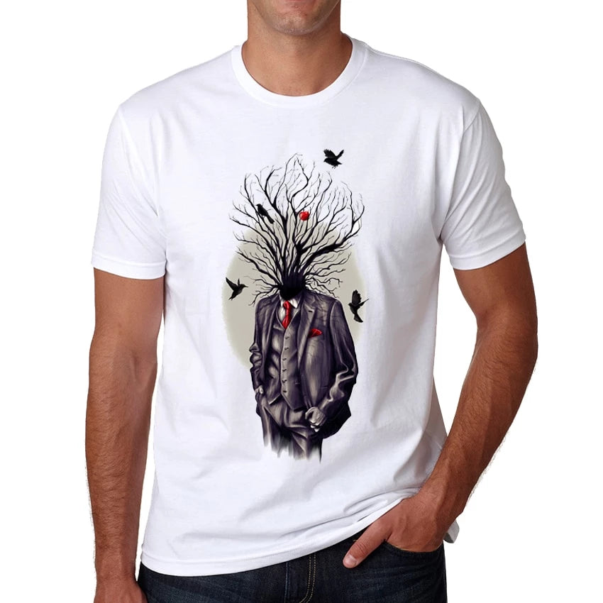 T-Shirt Summer High Quality Creative Tree of Life