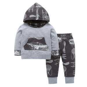 infant clothing new born baby boy clothes set Camouflage hooded tops+pants 2pcs set