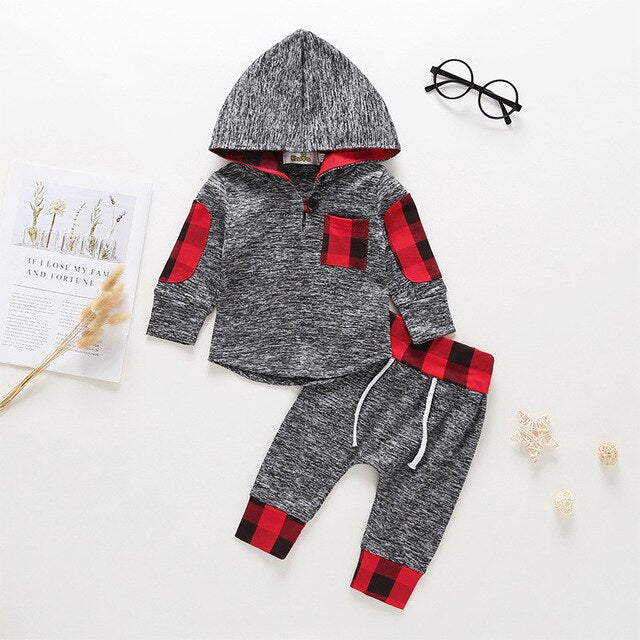 new born baby boy clothes set sweatshirt hooded T-shirt Pants Outfit