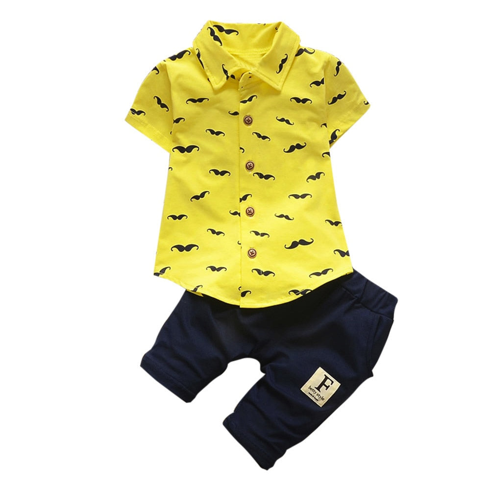 Toddler Kids Baby Boys Beard T Shirt Tops+Shorts Pants Outfit Clothes Sets infant clothing new born baby boy clothes set