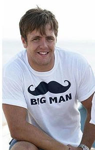 Matching Cute Mustache Print Family T-shirt Big Man Little Man Dad Son