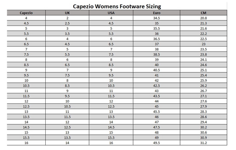 capezio size guide footwear tap shoes australia dancewear shop