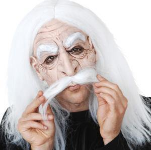 Half Mask - old man with white hair