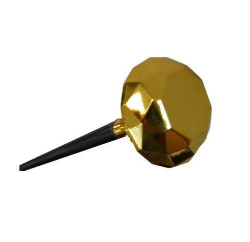 Gold Diamond Knob - Cane  Pimp up your life with our diamond topped pimp canes. Gold diamond on a meter long black cane, for sale in store only. Great accessory for 70s Disco.