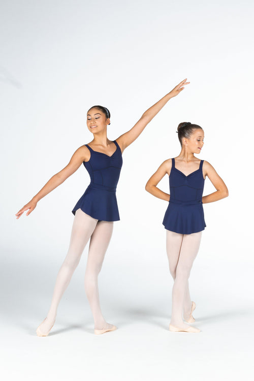 navy blue ballet skirt dancewear claudia dean