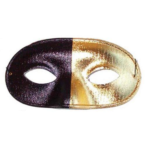Mask - Bi Color Black/Gold