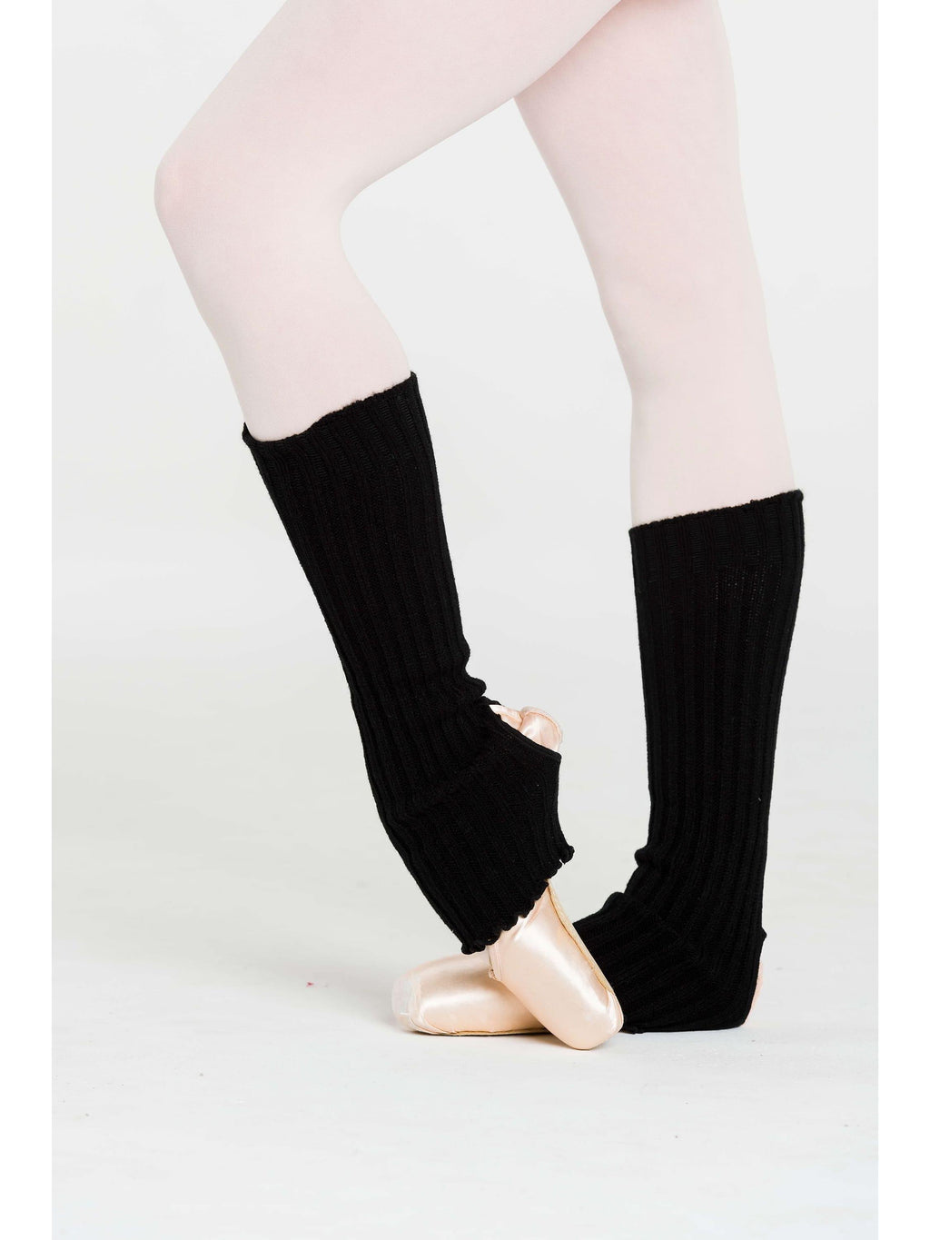 40cm Stirrup Ankle / Leg Warmers Black Novelties