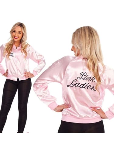 50s Grease Pink Ladies Jacket -Adult (One Size) Costume Sale