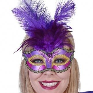 Pieta Purple Eyemask with Feathers  Dancewear Australia