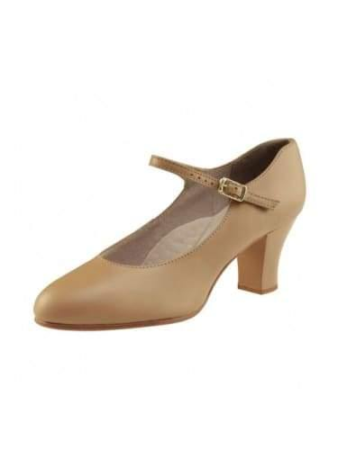 "650 - 2"" Student Footlight Character Shoes (Caramel)-Adult  Dancewear Australia"