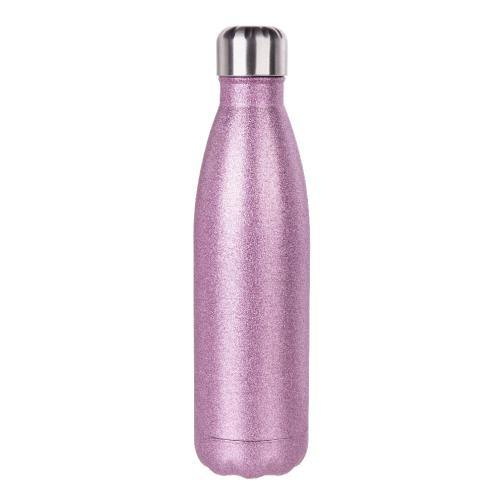 pink glitter drink bottle