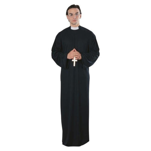 Adult Priest Costume fancy dress halloween jesus catholic