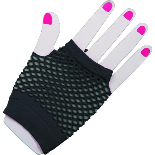 Short Fishnet Gloves - Black  Dancewear Australia