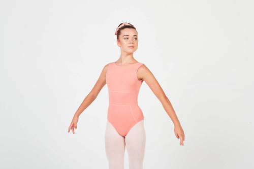 peach leotard dancewear