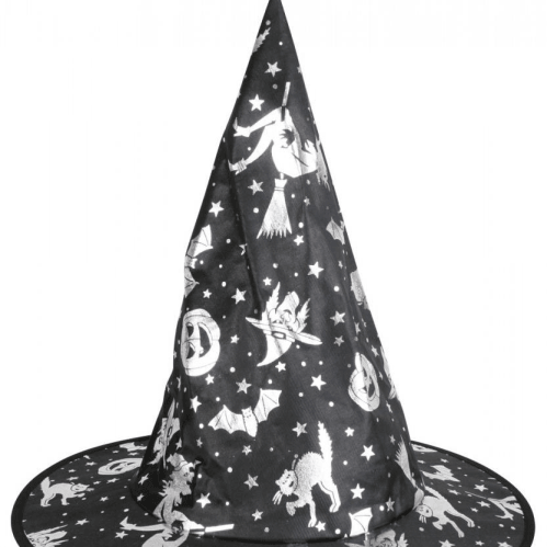 Witch Hat - Silver cats bats witch  Dancewear Australia