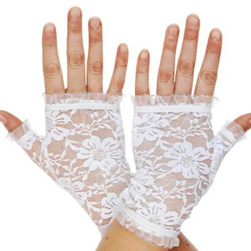 Short Fingerless Lace Gloves  Dancewear Australia