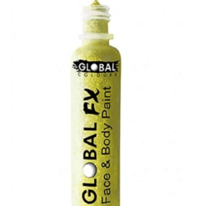 Global FX Face & Body Paint - Iridescent Yellow  Dancewear Australia