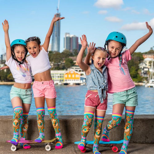 gifts mad mia socks kangaroo australia crazy novelty shoes  dancewear