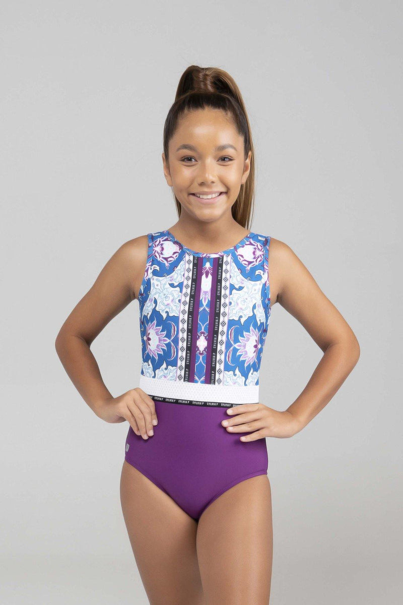 purple gymnastics leotard sylvia p