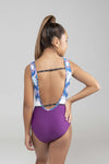 purple blue gymnastics leotard sylvia p