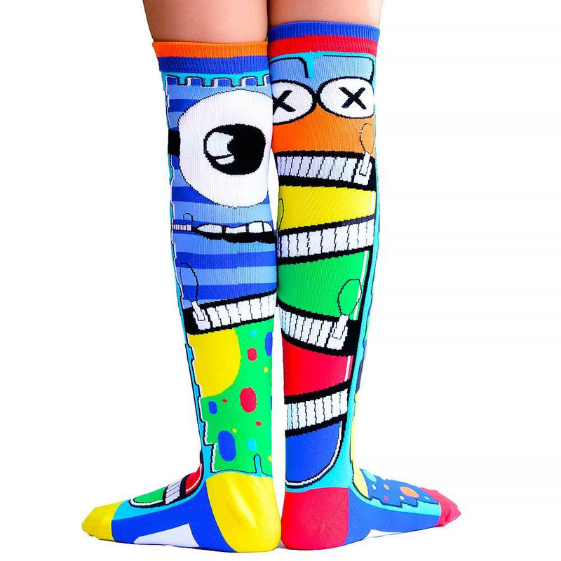Unleash your inner little monster with these super fun and colourful monster socks. Perfect novelty socks for any age, MADMIA monster socks are so cute it's scary!