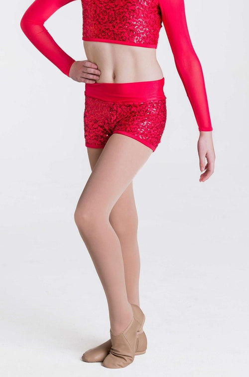 Attitude Shorts | Red  Dancewear Australia