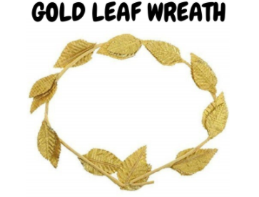 Green or Gold Leaf Wreath