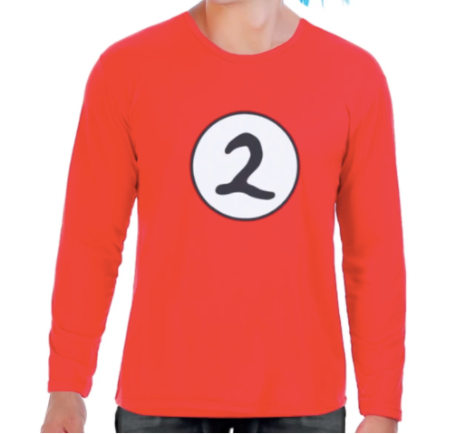 thing 1 thing 2 long sleeve child adult top book week costume dr suess easy cheap australia fancy dress