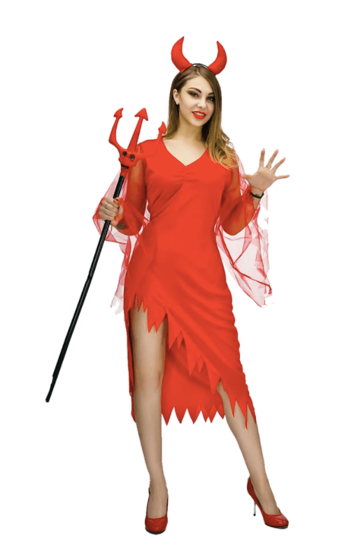 Adult Devil Lady Costume Halloween fancy dress party