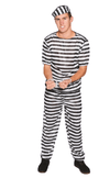 Adult Prisoner Man Costume fancy dress jail
