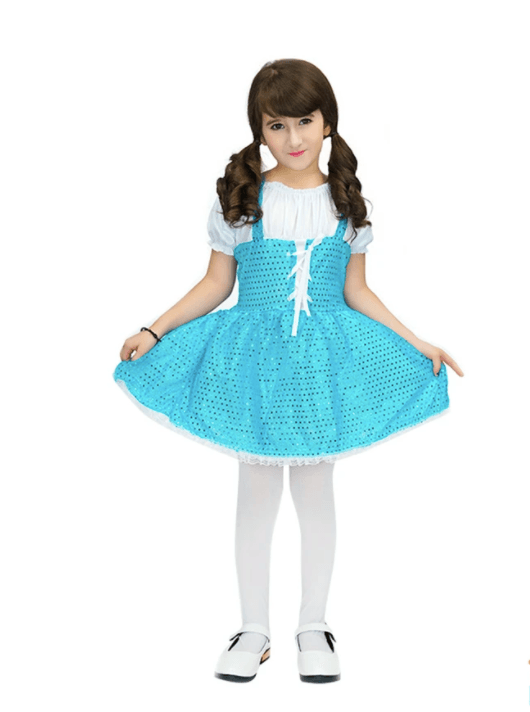 Blue Sparkle Dress - Dorothy Child Costume book week