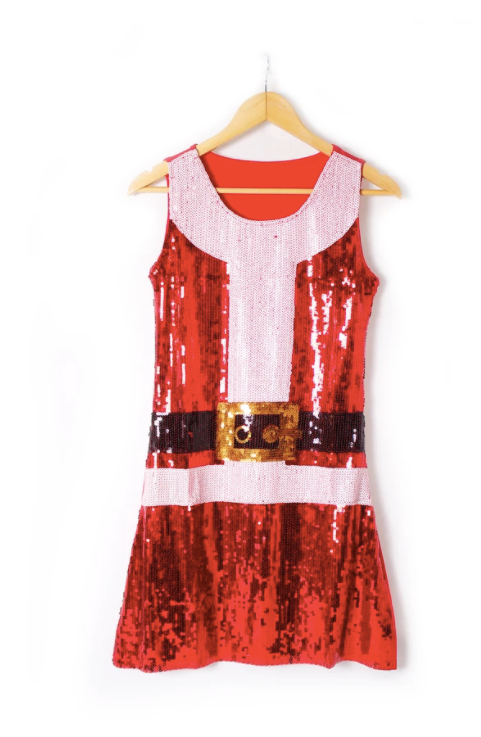 Santa Sequin Dress