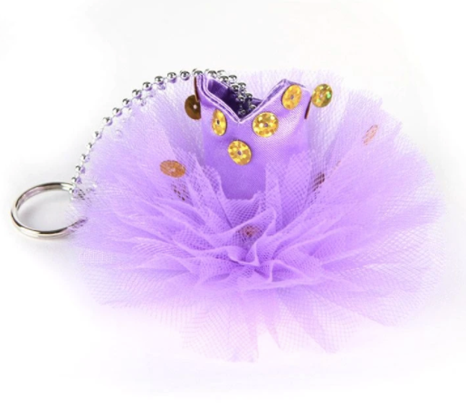A tutu keyring available in an array of colours makes this a must have accessory for every dancers bag