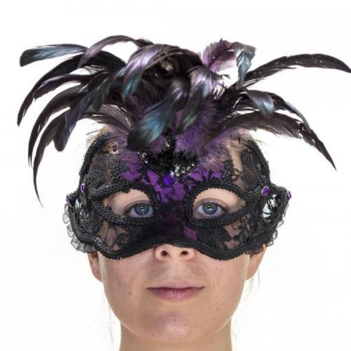 Purple Lace Masquerade Mask  Dancewear Australia