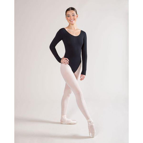 Jesse Long Sleeve Scoop Leotard AL03  Dancewear Australia