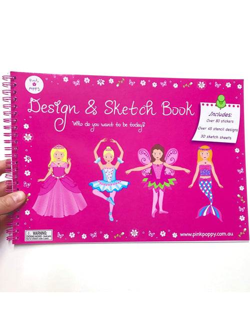 Ballet Activity Book | Sketch and Design Pink Poppy  Dancewear Australia