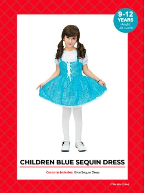 Blue sparkle Dress child  Dancewear Australia