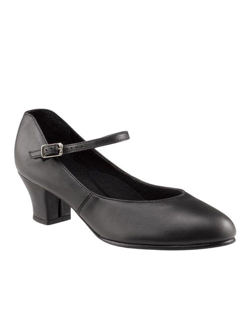 Leather Jr. Footlight Cuban Heel- Black 551 Capezio  Dancewear Australia