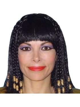 Cleopatra Wig with Braids & Gold Trim  Dancewear Australia