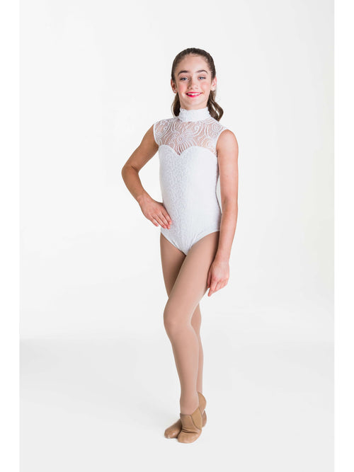 Deco Lace Leotard - White  Dancewear Australia