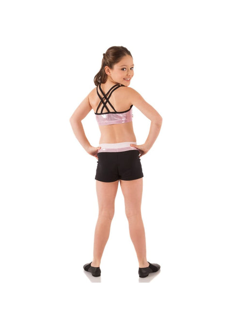 Double Cross Crop Top - Metallic  Dancewear Australia