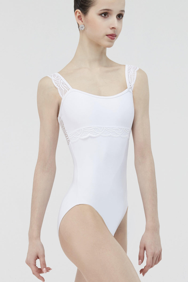 white ballet leotard women wear mi