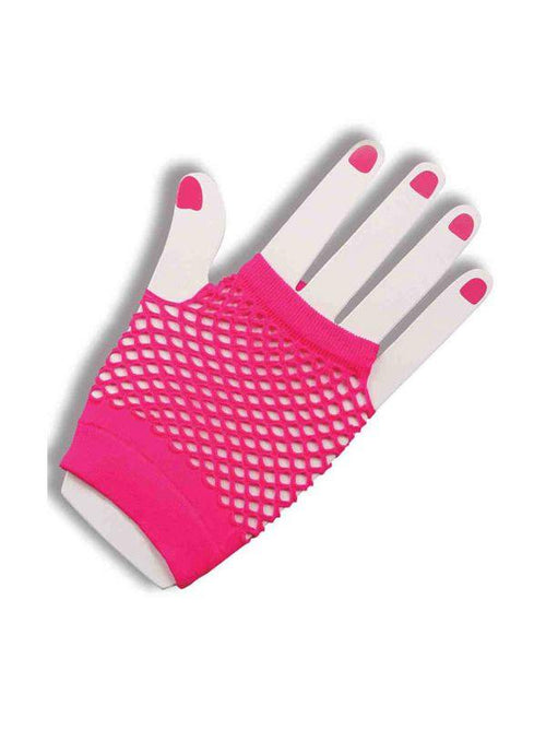Short Fishnet Gloves - Hot Pink  Dancewear Australia