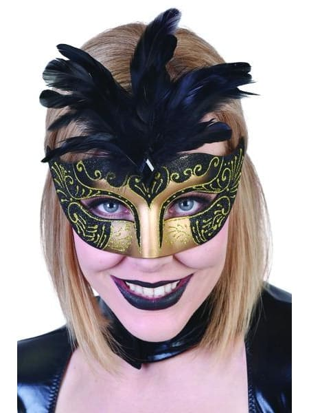 Gabrielle Eye Mask with Feathers  Dancewear Australia