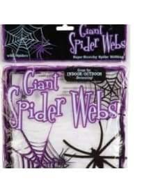 Giant Spider Web with 4 black plastic spiders  Dancewear Australia