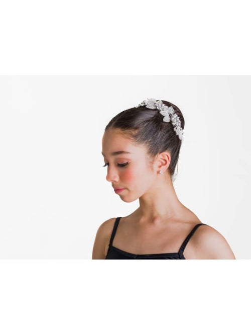 Glisten Hairpiece - Crystal White  Dancewear Australia