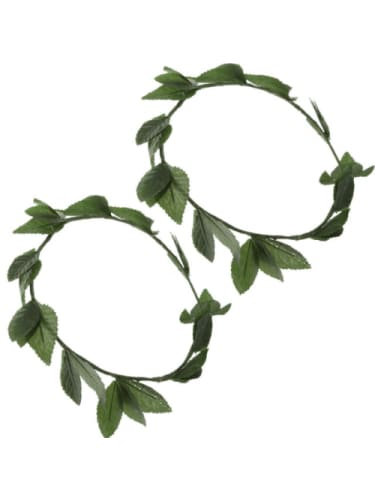 Green or Gold Leaf Wreath Novelties