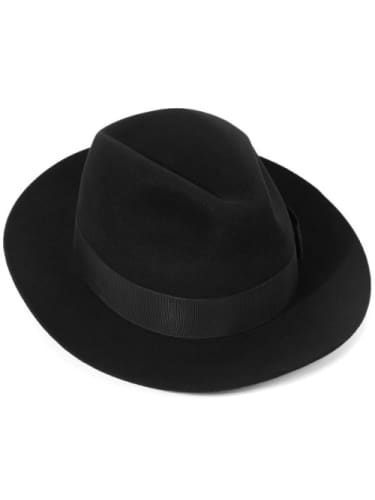 Hat - Fedora Black with Black Band  Dancewear Australia