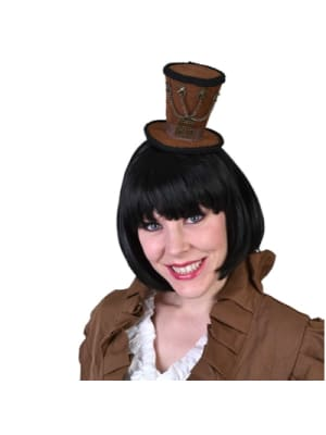 Hat on headband steampunk brown  Dancewear Australia